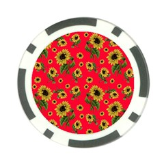 Sunflowers Pattern Poker Chip Card Guard (10 Pack)