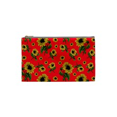 Sunflowers Pattern Cosmetic Bag (small)