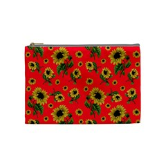 Sunflowers Pattern Cosmetic Bag (medium)