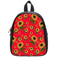 Sunflowers Pattern School Bag (small)