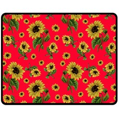 Sunflowers Pattern Fleece Blanket (medium)