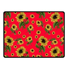 Sunflowers Pattern Fleece Blanket (small)