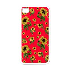 Sunflowers Pattern Apple Iphone 4 Case (white)
