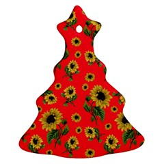 Sunflowers Pattern Ornament (christmas Tree)