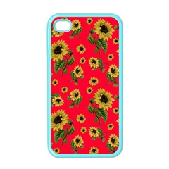 Sunflowers Pattern Apple Iphone 4 Case (color)
