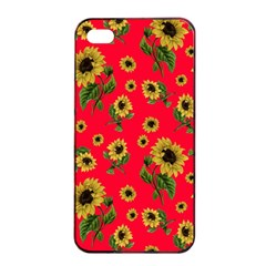 Sunflowers Pattern Apple Iphone 4/4s Seamless Case (black)