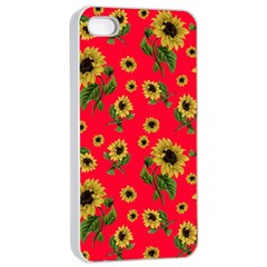 Sunflowers Pattern Apple Iphone 4/4s Seamless Case (white)