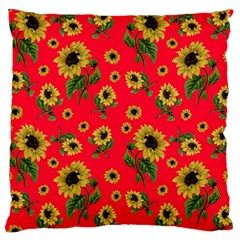 Sunflowers Pattern Large Cushion Case (one Side)