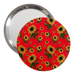 Sunflowers Pattern 3  Handbag Mirrors