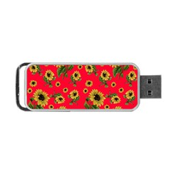 Sunflowers Pattern Portable Usb Flash (one Side)