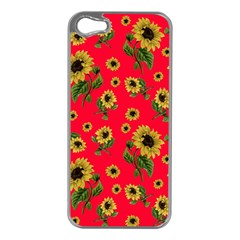 Sunflowers Pattern Apple Iphone 5 Case (silver)