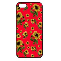 Sunflowers Pattern Apple Iphone 5 Seamless Case (black)