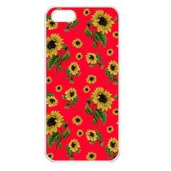 Sunflowers Pattern Apple Iphone 5 Seamless Case (white)