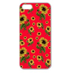 Sunflowers Pattern Apple Seamless Iphone 5 Case (clear)