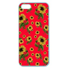 Sunflowers Pattern Apple Seamless Iphone 5 Case (color)