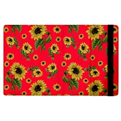 Sunflowers Pattern Apple Ipad 2 Flip Case