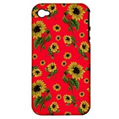 Sunflowers Pattern Apple Iphone 4/4s Hardshell Case (pc+silicone)