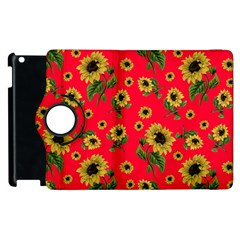 Sunflowers Pattern Apple Ipad 2 Flip 360 Case