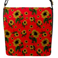 Sunflowers Pattern Flap Messenger Bag (s)
