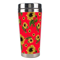 Sunflowers Pattern Stainless Steel Travel Tumblers