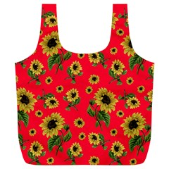 Sunflowers Pattern Full Print Recycle Bags (l)