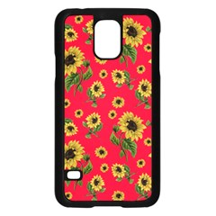 Sunflowers Pattern Samsung Galaxy S5 Case (black)