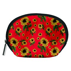Sunflowers Pattern Accessory Pouches (medium)