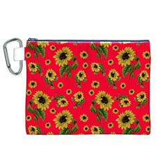 Sunflowers Pattern Canvas Cosmetic Bag (xl)