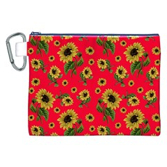 Sunflowers Pattern Canvas Cosmetic Bag (xxl)