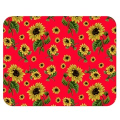 Sunflowers Pattern Double Sided Flano Blanket (medium)