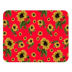 Sunflowers Pattern Double Sided Flano Blanket (large)