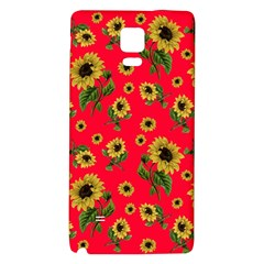 Sunflowers Pattern Galaxy Note 4 Back Case