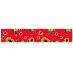 Sunflowers Pattern Flano Scarf (large)