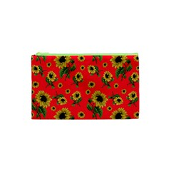 Sunflowers Pattern Cosmetic Bag (xs)