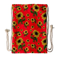 Sunflowers Pattern Drawstring Bag (large)