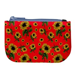 Sunflowers Pattern Large Coin Purse