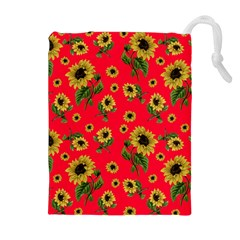 Sunflowers Pattern Drawstring Pouches (extra Large)