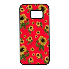 Sunflowers Pattern Samsung Galaxy S7 Black Seamless Case