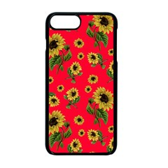 Sunflowers Pattern Apple Iphone 7 Plus Seamless Case (black)