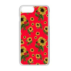 Sunflowers Pattern Apple Iphone 7 Plus White Seamless Case