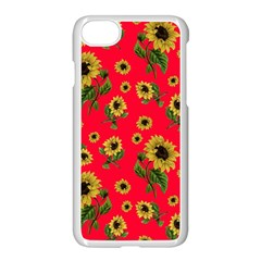 Sunflowers Pattern Apple Iphone 7 Seamless Case (white)