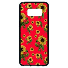 Sunflowers Pattern Samsung Galaxy S8 Black Seamless Case
