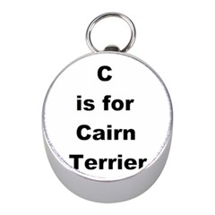 C Is For Cairn Terrier Mini Silver Compasses