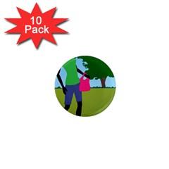 Cairn Terrier In Park Art 1  Mini Magnet (10 Pack)
