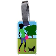 Cairn Terrier In Park Art Luggage Tags (two Sides)