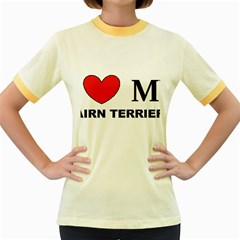 Cairn Terrier Love Women s Fitted Ringer T Shirts