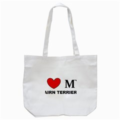 Cairn Terrier Love Tote Bag (white)