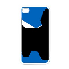 Cairn Terrier Silhouette Scotland Flag Apple Iphone 4 Case (white)