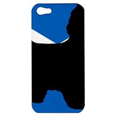Cairn Terrier Silhouette Scotland Flag Apple Iphone 5 Hardshell Case