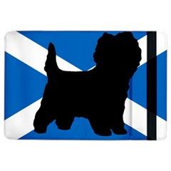 Cairn Terrier Silhouette Scotland Flag Ipad Air 2 Flip